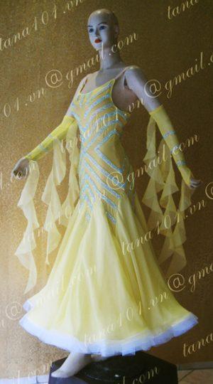 Váy khiêu vũ ballroom vàng