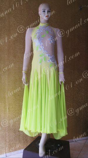 Váy khiêu vũ ballroom xanh lá cây
