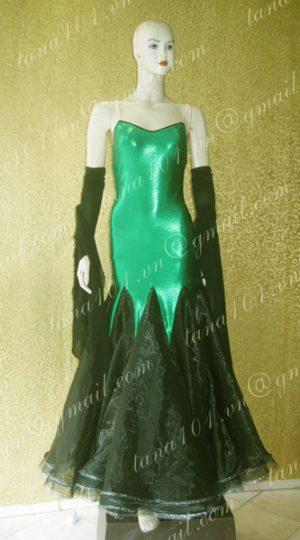 Váy khiêu vũ ballroom xanh lá