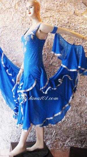 Váy khiêu vũ ballroom xanh