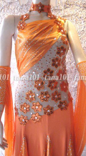 Váy khiêu vũ ballroom cam