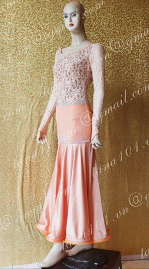 Váy khiêu vũ ballroom hồng