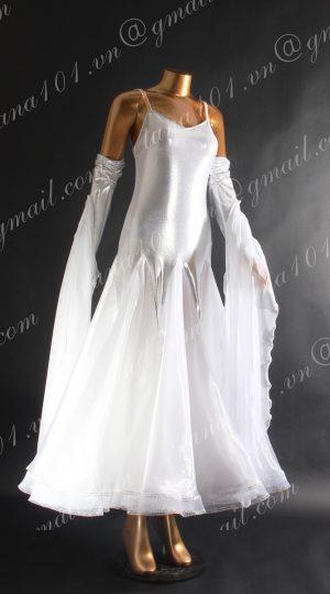 Váy khiêu vũ ballroom trắng