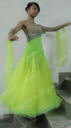 Váy khiêu vũ ballroom xanh nõn