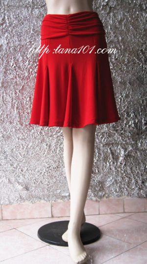 chân váy tập khiêu vũ đỏ