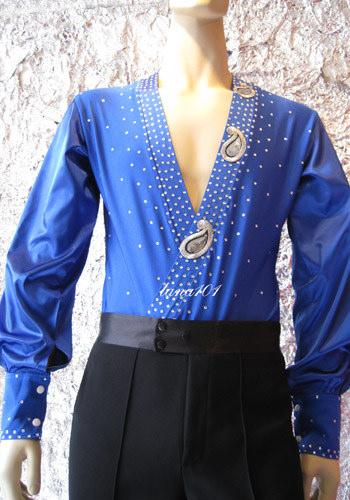áo nhảy khiêu vũ xanh dương