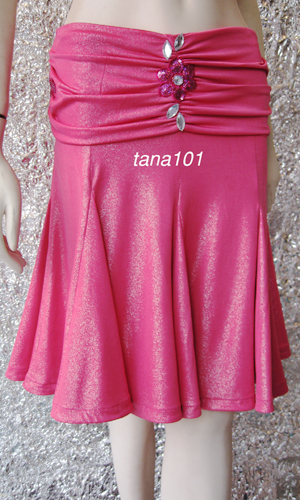 chân váy khiêu vũ hồng