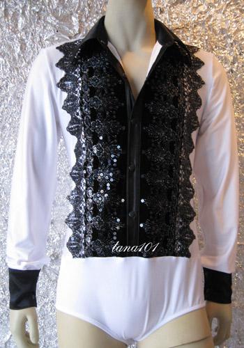 áo nhảy khiêu vũ trắng đen
