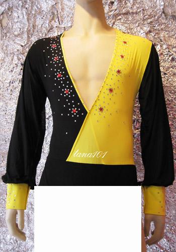 áo nhảy khiêu vũ vàng đen