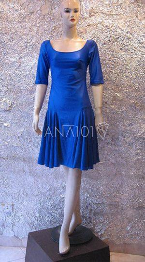Váy tập nhảy latin xanh