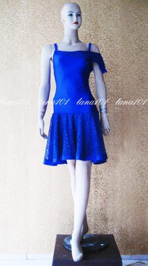 váy tập khiêu vũ xanh