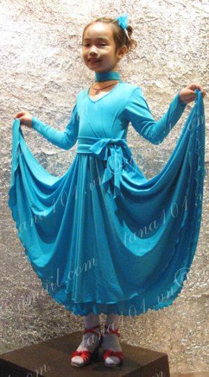 váy nhảy khiêu vũ xanh