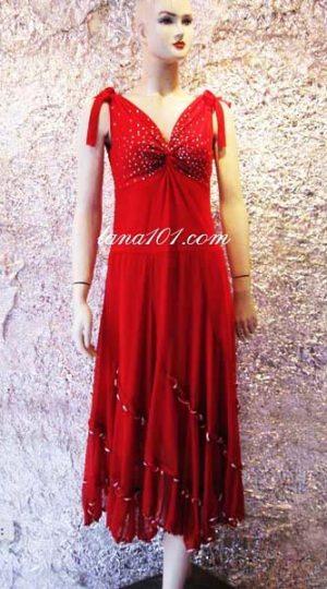 Váy khiêu vũ ballroom đỏ