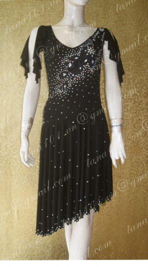 váy tập khiêu vũ đen