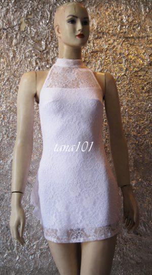 váy dạ hội trắng