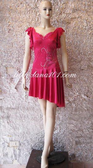 váy tập khiêu vũ hồng