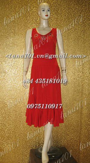 váy tập khiêu vũ đỏ