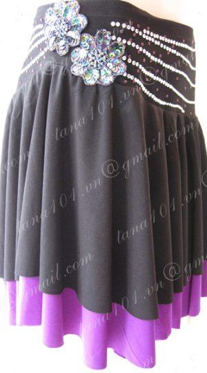 chân váy tập khiêu vũ đen tím
