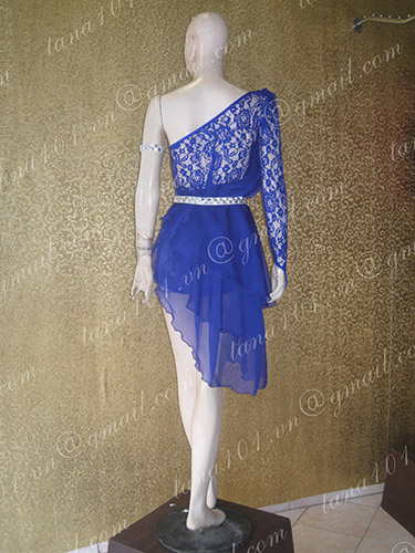 Váy khiêu vũ latin xanh dương