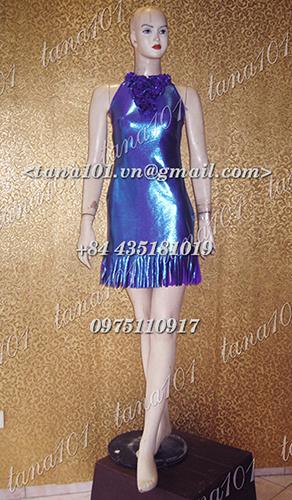 Váy dạ hội xanh