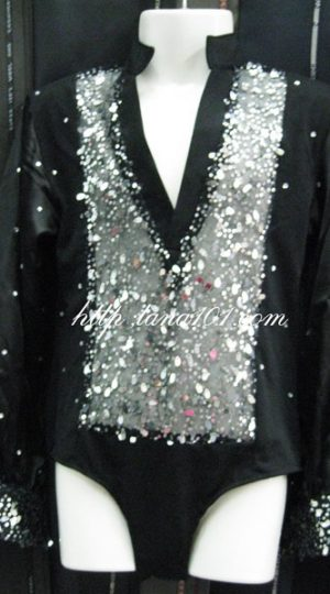 Áo khiêu vũ đen bạc