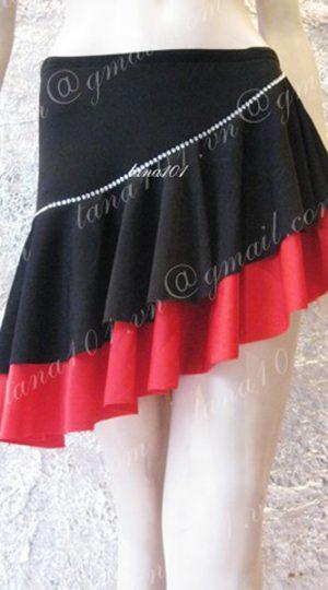 chân váy khiêu vũ đỏ đen