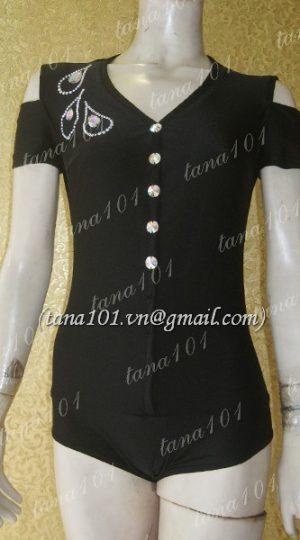 áo tập khiêu vũ đen