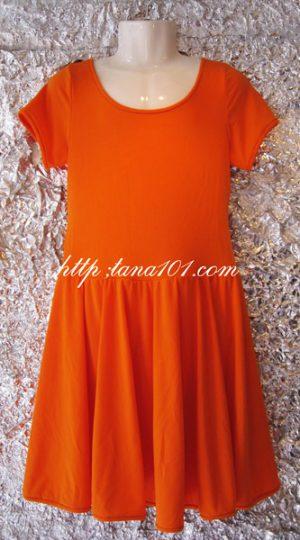 váy khiêu vũ cam