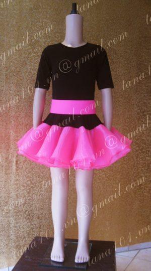 váy khiêu vũ đen hồng