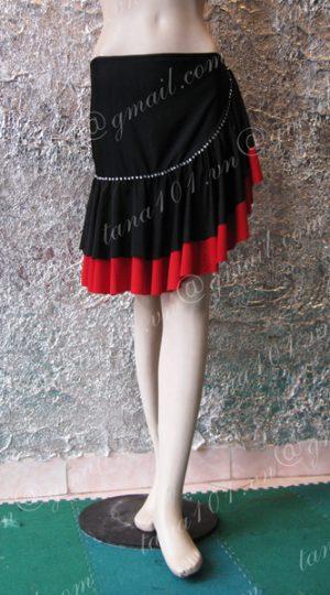chân váy tập khiêu vũ đỏ đen