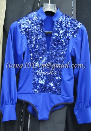 áo khiêu vũ xanh