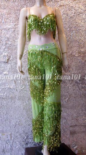 bộ quần áo khiêu vũ xanh