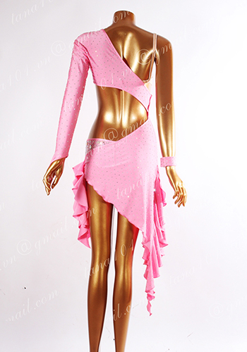 Váy khiêu vũ latin hồng