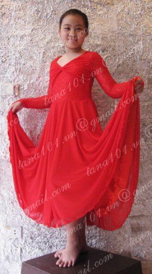 váy nhảy khiêu vũ đỏ