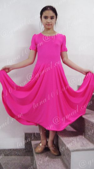 váy nhảy khiêu vũ hồng