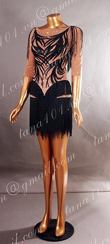Váy nhảy latin da người tua