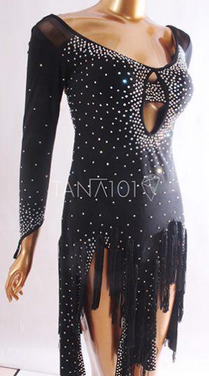Váy nhảy latin đen