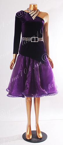 Váy nhảy latin tím