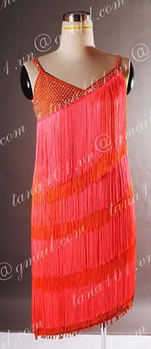 Váy nhảy latin cam tua