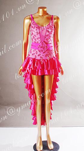 Váy nhảy latin hồng