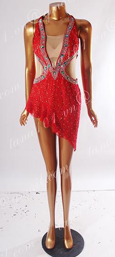 Váy nhảy latin đỏ