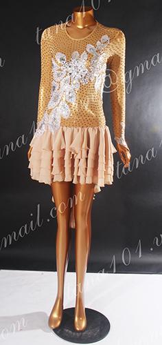 Váy nhảy latin da người