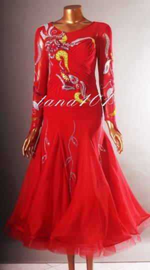váy khiêu vũ đỏ