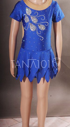 váy khiêu vũ bé gái xanh