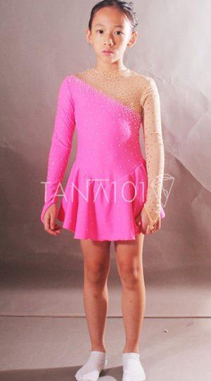 váy khiêu vũ bé gái màu hồng
