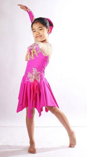 váy khiêu vũ bé gái hồng