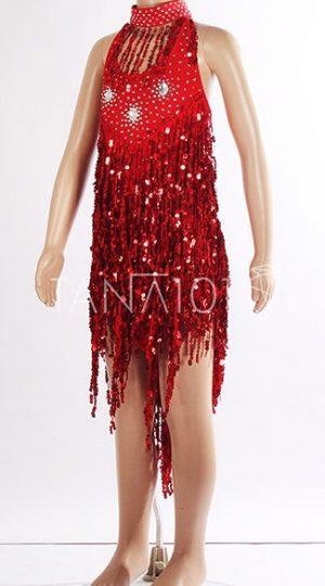 váy khiêu vũ bé gái kim sa đỏ