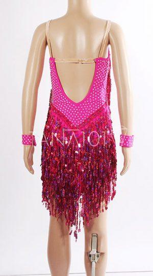 Váy nhảy latin bé gái hồng