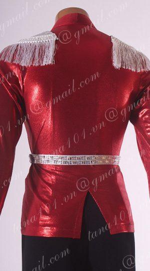 áo latin nam đỏ
