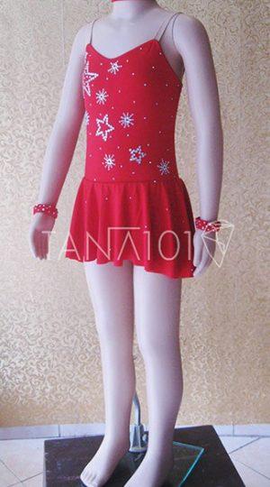 váy khiêu vũ bé gái đỏ
